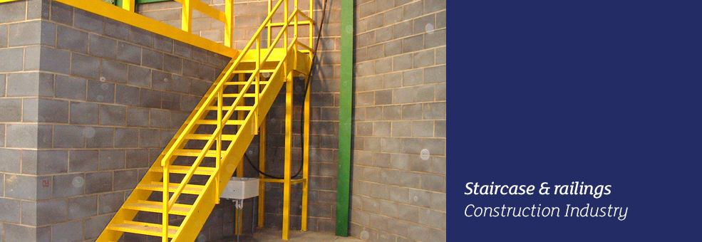 Staircase and railings - Construction Industry