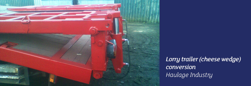 Lorry Trailer Cheese Wedge Conversion - Haulage Industry